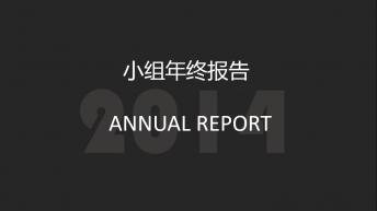 大气高端小组商务年终报告ppt模板