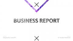 【水墨几何】紫色简约通用商务PPT模板01