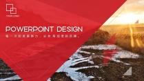 【RED】紅色(三十八)商務工作報告模板【174】