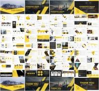 黄色大气工作报告模板合集(3)【4套共80页】示例7