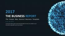【科技点线】简约大气通用商务报告模板|蓝色