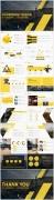 黄色大气工作报告模板合集(3)【4套共80页】示例4