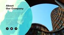 创意抽象水彩高品质商务可视化多用途模板示例3
