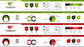 歐美簡約大氣商務實用報告模板(兩種配色方案)