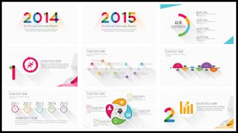 【長陰影】2014/2015長陰影簡潔清晰的商務模示例2