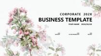 【粉红】红色小清新文艺花卉简约大气极简通用商务总结