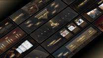 【寬屏設計】高端黑金發布會模板【247】