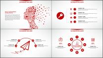 大气美观红色企业公司工作总结PPT模板示例5