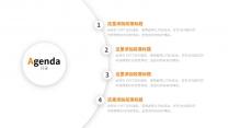 【精致视觉13】简素橙色弥散阴影通用商务模版示例4