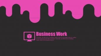 【粉色风暴第二弹】【科技时尚创意年终总结商务汇报模