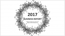 经典黑白创意点线总结报告工作计划商务策划模板03