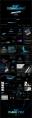 【黑色商务】简洁黑蓝色商务科技报告模板 02示例8
