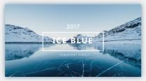 【简约商务】冰蓝致简杂志风工作汇报PPT模板