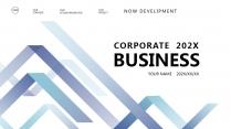 【高山流水C】极简高端大气蓝色商务报告年终汇报总结
