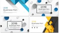 【完整框架】现代创意几何商业计划书书模板【含八套】示例5