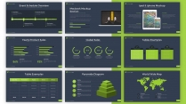 【绿色】深蓝质感简约欧美风商务通用PPT模板示例5