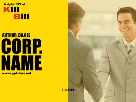 黄黑欧美电影海报风世界500强顶级商务模板图片
