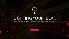 【最爱红色】网页式商业设计工作汇报通用模板