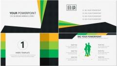 黄绿简洁风商务PPT模板示例3