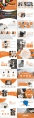 橘色简约时尚商务PPT模板示例4