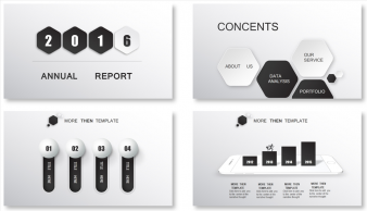 【动态】黑白立体——时尚大气总结汇报商务PPT