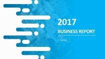 创意蓝色总结报告工作计划商务策划模板