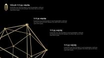 3D黑金 金属立体三维不规则模型 创意PPT模板示例6