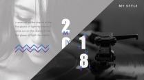 【黑白撞】简约性冷淡高端欧美杂志风模板示例3