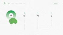 【环保】简约商务清新薄荷绿色PPT模板示例3