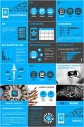 社交媒体-大气稳重简洁蓝灰色欧美范儿商务PPT模板示例8