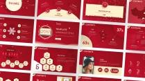 【动画PPT】圣诞红质感商务模板45.0