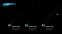 【黑色商務】簡潔黑藍色商務科技報告模板 02示例4