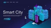 【商务大杀器】深蓝城市科技IT公司企业工作PPT