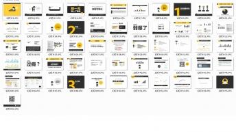 大气简约实用商务图表报告大合集(含100套图表)示例7