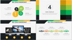 黄绿简洁风商务PPT模板示例7