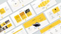 【经典灰黄配色】黄色商务通用模板示例2