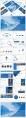 藍色工作報告PPT模板合集【八】含四套示例3
