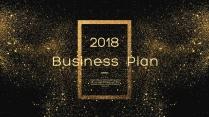 【完整框架】创意金色粉末商业计划书策划书模板01