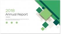 创意几何绿色总结报告工作计划商务策划模板03示例2
