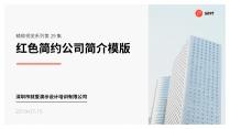 【精致视觉29】红色简约商务风公司简介PPT模版