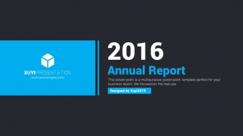 2015年蓝色简洁超大气商务汇报PPT模板示例2