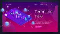2018红紫渐变极简网页风PPT模板示例2