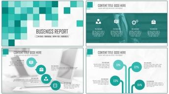 2015年终创意商务总结汇报PPT模板03