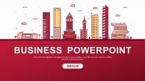 【全可编辑】线条城市公司商务工作总结汇报PPT