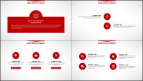 大气美观红色企业公司工作总结PPT模板示例3