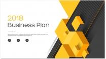 【完整框架】现代创意几何商业计划书策划书模板02