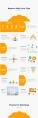 橙黄极简商务汇报模板示例3