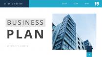 【简约商务】蓝色企业大气图文年终总结PPT模板