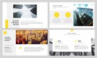 【简约商务】黄色图文混排杂志风工作汇报PPT模板示例4