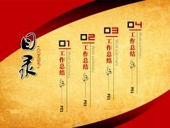 全手工,可修改中国风牛皮纸年终报告模板—(标屏版)示例1